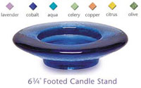 Fire & Light Glassware Footed Candle Stand/Wine Caddy