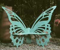 The Original Butterfly Garden Bench by Cricket Forge (Medium)