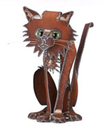 Henry Dupere Sitting Cat Garden Sculpture