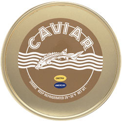 Marky's American White Sturgeon Caviar (1 lb. Tin and 1 kg. Tin)