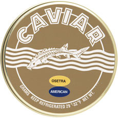 Marky's American White Sturgeon Caviar (7 oz. Tin and 14 oz. Tin)