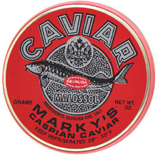 Marky�s Sevruga Caviar (7 oz. Tin and 14 oz. Tin)