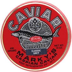 Marky's Classic Grey Sevruga Caviar (7 oz. Tin and 14 oz. Tin)