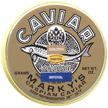 Marky's Osetra Imperial Golden Caviar (7 oz. Tin and 14 oz. Tin)