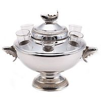 Silver Plated Caviar & Vodka Server
