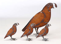 Henry Dupere Quail Garden Sculpture (Set of Four)