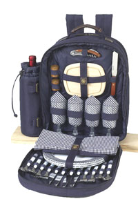 Picnic at Ascot Super Deluxe Picnic Backpack for Four